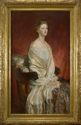 John Singer Sargent, Sylvia Harrison, 1914, oil on canvas, The Collection of Eleanor and C. Thomas May, Jr.
