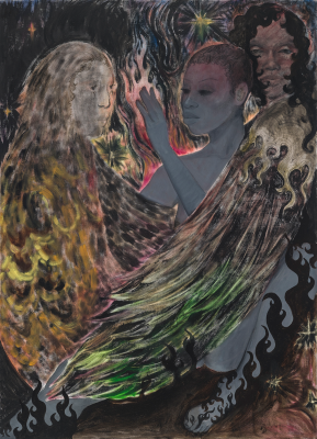 Naudline Pierre, Hereafter, Ye Shall Be Changed, 2021, oil on linen, © Naudline Pierre, courtesy of the artist and James Cohan, New York. Photo: Paul Takeuchi