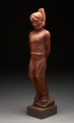 Octavio Medellín, The Hanged, 1939, direct carving in black walnut, Dallas Museum of Art, Kiest Memorial Purchase Prize, Fourteenth Annual Dallas Allied Arts Exhibition, 1943, 1943.9