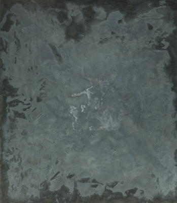 Oshay Green, Untitled, 2020, cement, black pigment, and resin on canvas, Dallas Museum of Art, Lay Family Acquisition Fund, 2020.24. Courtesy AND NOW